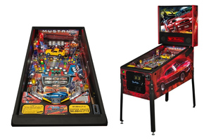 The new pro-level pinball game honoring 50 Years of Ford Mustang from Stern Pinball.