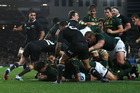 The All Blacks battled to combat the Springbok maul. Photo / Getty Images