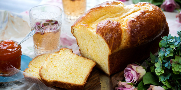Brioche with apricot jam. Photo / Babiche Martens.
