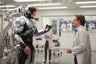 Joel Kinnaman (left) and Gary Oldman star in Columbia Pictures' Robocop.