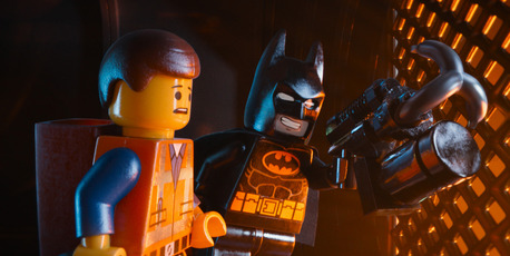 Emmet, voiced by Chris Pratt and Batman, voiced by Will Arnett, star in 'The Lego Movie'. Photo / AP