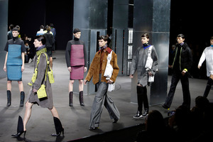 Alexander Wang's futuristic Fall 2014 collection modeled during Fashion Week in New York. Photo / AP