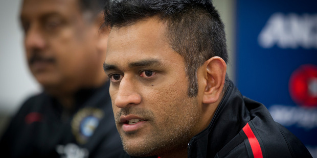 Indian captain MS Dhoni has been linked to an investigation into match-fixing in the Indian Premier League. Photo / Sarah Ivey
