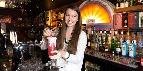 Clare Laredo of Revival Bar in Christchurch. Photo / Martin Hunter