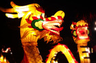 Fiery dragons light up the night. Photo / Natalie Slade
