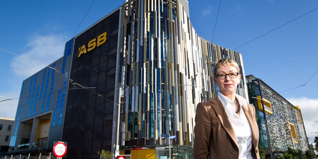 ASB chief executive Barbara Chapman. Cash net profits at the bank rose 12 per cent in the six months to the end of December 2013. Photo / Richard Robinson.