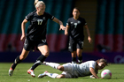 The New Zealand women's football team fell to their second straight one-goal defeat. Photo / Brett Phibbs.