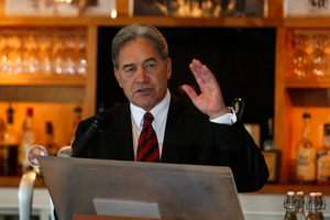 Winston Peters has nothing to say about his visit to Kim Dotcom's mansion, as he says over and over again. File photo / Michael Cunningham