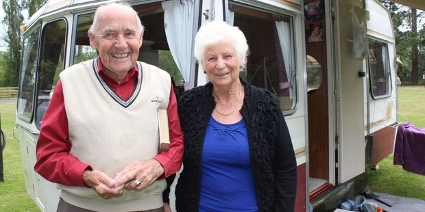 Ray and Ngaire Cooper, of Napier, think the holiday park's amenities are greatly  improved.