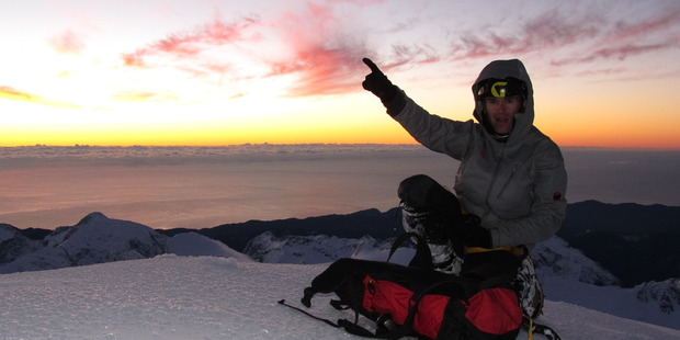 Guy McKinnon was the first to complete a solo climb of the west face of Mt Tutoko.