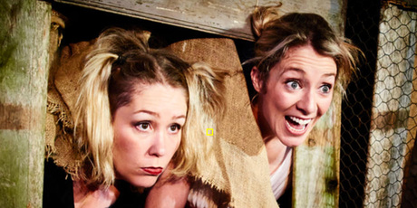 The Bitches Box comedy show is the brainchild of actresses Emma Newborn and Amelia Dunbar.