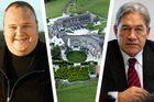 Kim Dotcom and Winston Peters. Photo / Charles Howells, NZH, HBT