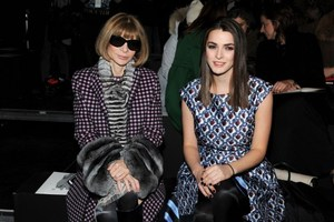 Anna Wintour and her daughter Bee Shaffer sit front row. Photo / AFP
