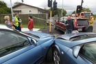 All the drivers involved in this crash say they were on a green light. Photo/Duncan Brown