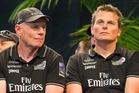 Grant Dalton (left) and Dean Barker admit there were tense discussions during the 2013 regatta. Photo / Greg Bowker