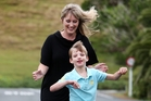 Seven-year-old Harvey Ellis with mum Jo - the stars of a new short online movie. Photo / Michael Cunningham