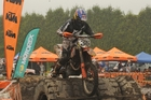 Endurocross winner Chris Birch rides his KTM to victory at Saturday's Te Puke A&P Show. Photo/Colin Smith