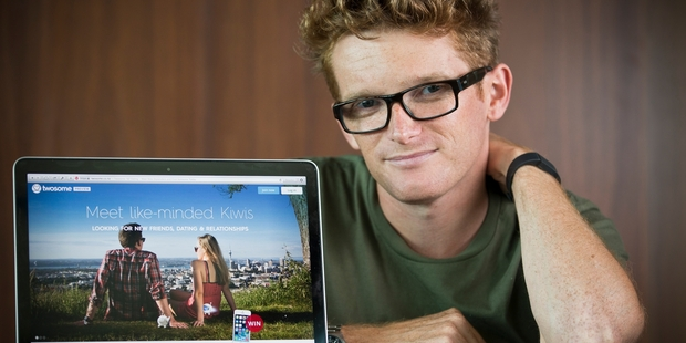 Dylan Bland, founder of new dating website Twosome, is aiming to have up to 300,000 members signed up by the end of this year. Photo / Greg Bowker