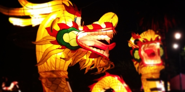 Fiery dragons light up the night. Photo / Natalie Salde