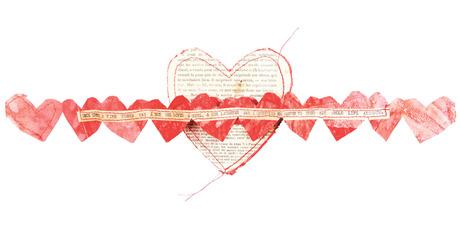Book Art Studio's typewritten Heart Mail.