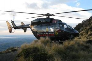 The Lowe Corporation Rescue Helicopter said the man was injured at Tangoio Falls. Photo / supplied