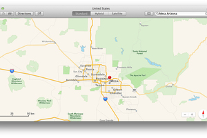 Mesa Arizona pictured in Apple's Maps app for Mac.