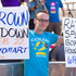 A lone Len Brown protestor at The Big Gay Out. Photo / Dean Purcell