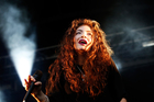 Lorde performs live on stage during the Laneway Festival in Sydney, Australia.