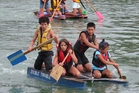 Teams of four will be taking part in the Opua Community Regatta raft race. Photo / Peter de Graaf