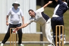 Rotorua's Central Cricket Club are looking to make the semis. Pictured is Central player Andrew Gibbs. Photo / Stephen Parker