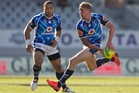 New Warriors recruit Sam Tomkins, right, wants Super league teams to be part of the Nines. Photo / Greg Bowker