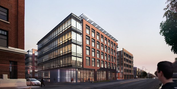 Photovoltaics adorn the roof of 333 Brannan in San Francisco. Photo / Supplied