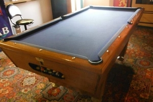 The pool table featured in Once Were Warriors and Temuera Morrison's games room.