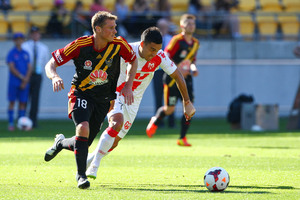 Ben Sigmund in action for the Phoenix today against Melbourne Heart. Photo / Getty Images