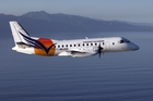ON TRACK: Vincent Aviation's Saab 340, touted as the type of aircraft to do the job for Masterton.