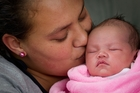 Lydia Mataiti (21) and newborn daughter Vinell Mavia Faoagali rely on homeless shelters. Photo / Richard Robinson