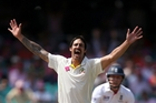 Mitchell Johnson dismissed openers Alviro Petersen and Smith in his fiery opening spell.