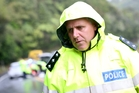 Inspector Murray Hodson at the scene of the fatal accident. Photo / Michael Cunningham