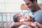 During the first year new fathers experience a drop of testosterone. Photo / Thinkstock