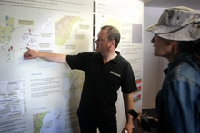 New Zealand Oil & Gas chief executive Andrew Knight explains the drill region.  Photo/Bevan Conley