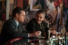 George Clooney (above right, in a scene from The Monuments Men with Matt Damon), touched a nerve when he suggested Britain ought to return the Elgin Marbles to Greece. Pictures / AP