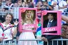 Barbie and Ken - Harshita Sood and Kiran Soysa. Photo / Richard Robinson