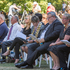 Official guests follow the reading of victims names at the Commemorative Service. Photo / SNPA / David Alexander