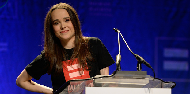 Actress Ellen Page comes out as gay at the Human Rights Campaign's Time to Thrive Conference. Photo/AP