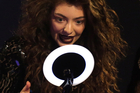 Lorde accepts the award for International Female Solo Artist at the Brit Awards. Photo/AP