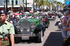 Crowds enjoy the Tremains Art Deco Parade through the streets of Napier today. Photo/Duncan Brown.
