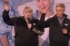 "Rebel Wilson stopped by Ellen DeGeneres' talk show today to debut the twosome's brand new rap jam, ""Watching Cats on the Internet"" -- and it's as amazing as it sounds. Courtesy: YouTube/CLZ"