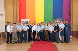 Members of NZ Defence Forces' Overwatch at the 'Pride in Defence Conference'. Photo / NZDF