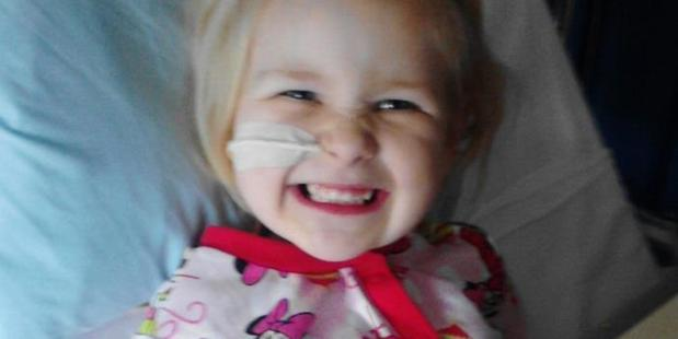 Alicia Steenson, 4,  is battling a rare and aggressive form of leukaemia. Photo/Supplied