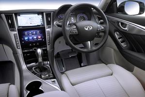 The interior of the luxury Nissan brand's Infiniti Q50